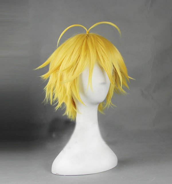 Meliodas Dragon's Sin of Wrath Wigs Heat Resistant Golden Synthetic Hair Cosplay Wig
