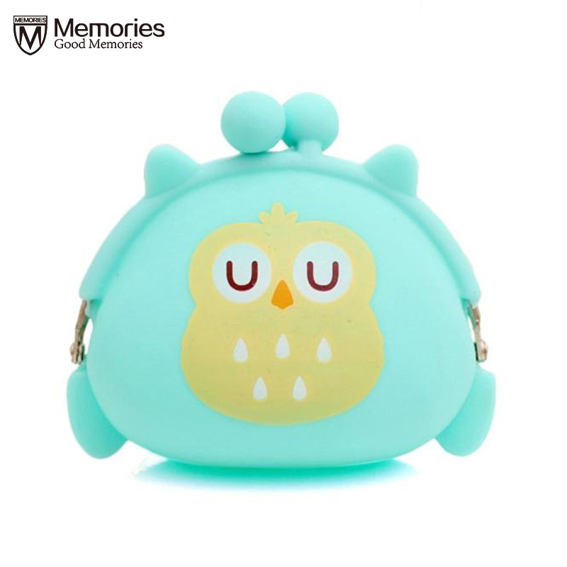 Coin Purses Women Purse for Coins Children's Wallet Kids Wallets Cute Cartoon Owl Silicone Jelly Change Bag Keys Pouch S65