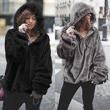 Celmia Plus Size Women Oversized Hoodies Sweatshirt 2019 Winter Warm Long Sleeve Coats Top Casual Pullover Velvet Hooded Outwear