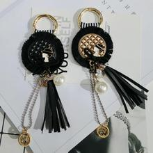 Fashion Tassel Key Chain Women bag charm accessories Tassel Key Holder Korean velvet leather Car Key Ring gift jewelry 2019 oriange new fashion key chain accessories tassel key ring pu leather bear pattern car keychain jewelry bag charm women gift