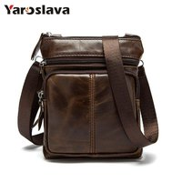 Genuine Leather Men Bags Male Cowhide Flap Bag Shoulder Crossbody Bags Handbags Messenger Small Men Leather