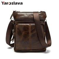 Genuine Leather Men Bags Male Cowhide Flap Bag Shoulder Crossbody Bags Handbags Messenger Small Men Leather