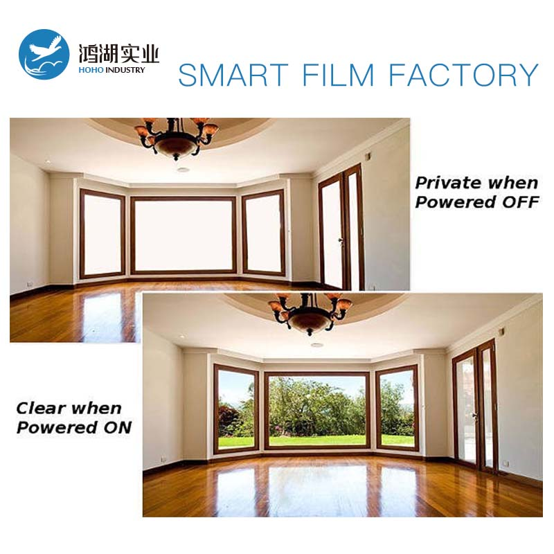 1 pcs 1255*2745mm + 1 pcs 1660*715mm auto-adhésif commutable smart film magique en verre film film de fenêtre intelligente avec alimentation