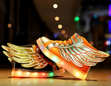 2017 весна осень sneakerschildren кожа PU shoes девушки мода LED shoes мальчики Крыло кроссовки дети спорт shoes кроссовки
