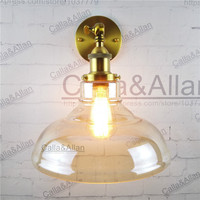 Free Shipping Half Globe Clear Glass Shade Wall Lamp Up And Down Bedroom Sconce E27 AC110V