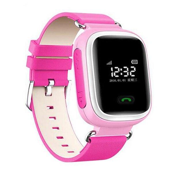Новый GPS трекер sos-вызов Q60 детей Смарт часы для Android LG розовый