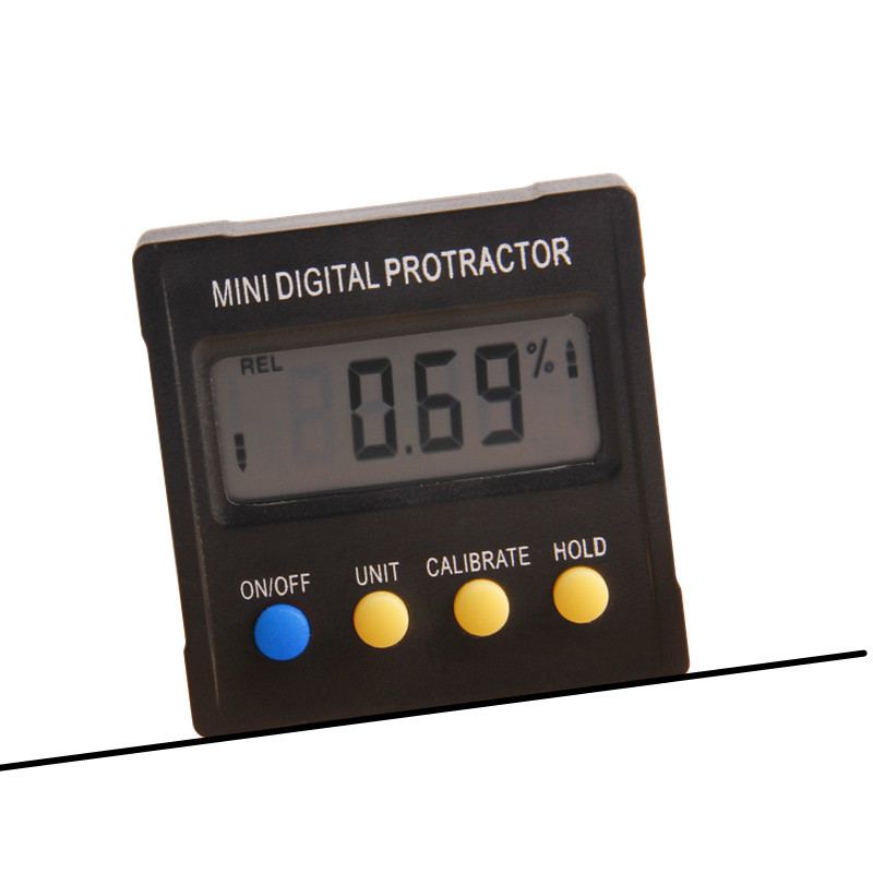 Digital Protractor 4x90 Degree Electronic Box Gauge Level Inclinometer Magnetic Base Measuring Tool