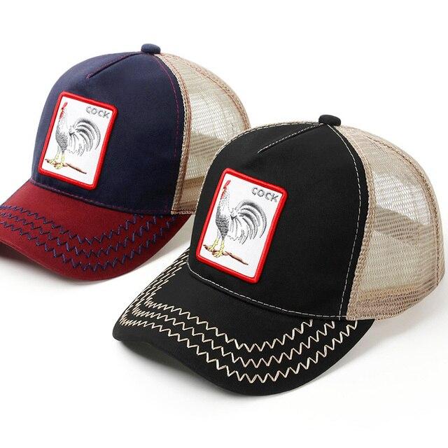 שחור Snapback בייסבול שווי גברים נשים חוות חיות נהג משאית כובע כובע קיץ לנשימה רשת אבא כובע היפ הופ גברים כובעי כובעי עצם 2019
