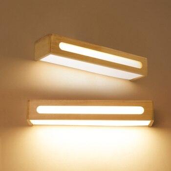 خشب متين الحمام الجدار مصباح مرآة ضوء بسيط الحمام مضمد مصباح مستطيلة الجدار مصباح السرير جدار ضوء lw412411 مصابيح الحائط مصابيح وإضاءات -