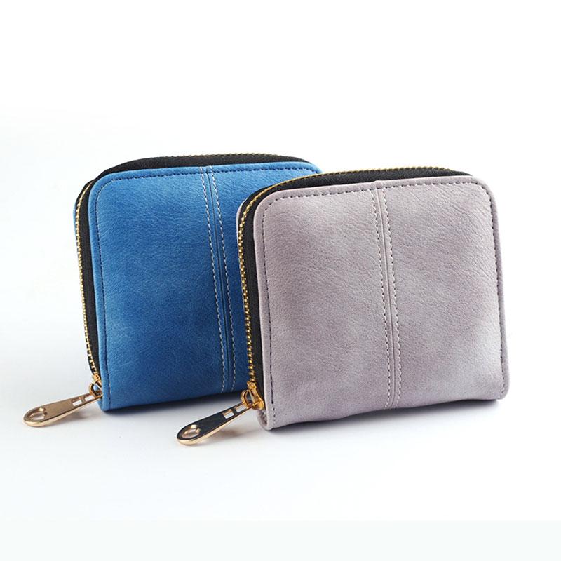 New Fashion 2018 Preppy Style Women Wallets Short Design Plaid Lady Purses Beautiful Zipper Student Girl Change Coin Mini bag