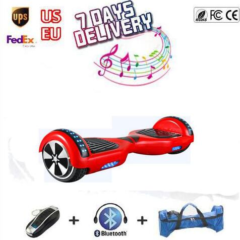 ul monowheel 6.5 Inch Hoverboard Two wheels Self Balance Scooter Hover Board With LED Light Free Shipping