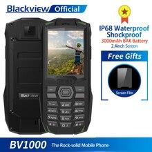 Blackview BV1000 3000 mAh 2.4 inç Sağlam Cep Telefonu IP68 Su Geçirmez Darbeye Dayanıklı MTK6261 Çift SIM FM mini cep telefonu E...