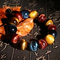 2016 New Colorful Tiger Eye Love Buddha Bracelets & Bangles Trendy Natural Stone Bracelet For Women and Men Jewelry Pulseras