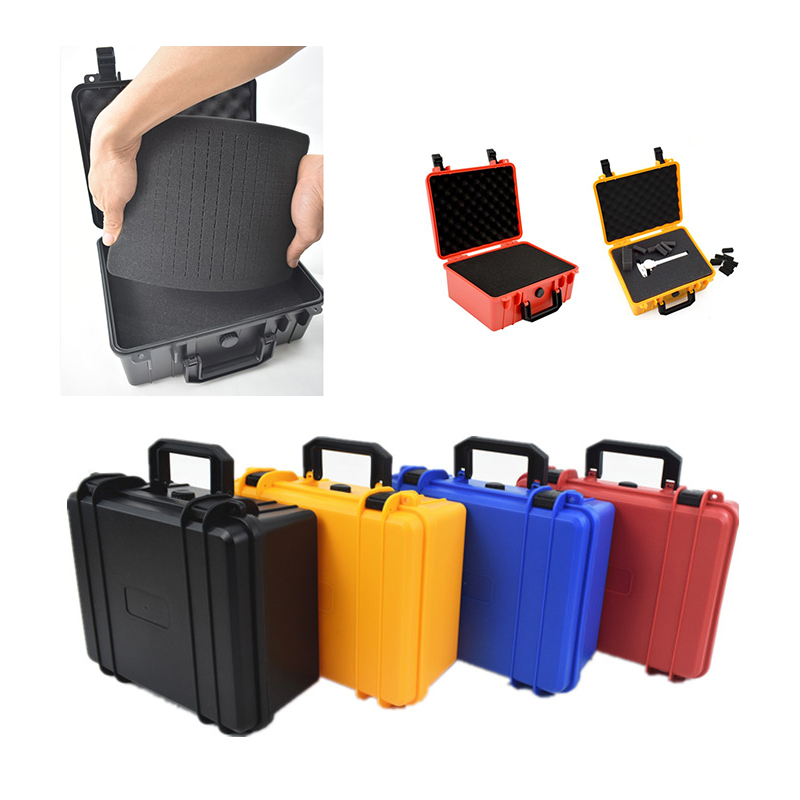 Portable Toolbox Protective Safety Instrument Tool Box ABS Plastic Storage Sealed Tool Case Thickened Shockproof Box W Sponge