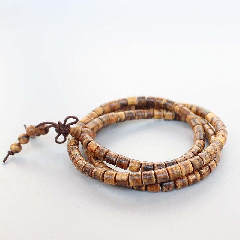 Eastisan 108 Natural Tiger Skin Prayer Beads Tibetan Buddhist Bracelet Mala Buddhist Rosary Necklace Wooden Jewelry Dropshipping
