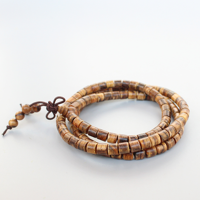 Eastisan 108 Natural Tiger Skin Prayer Beads Tibetan Buddhist Bracelet Mala Buddhist Rosary Necklace Wooden Jewelry Dropshipping