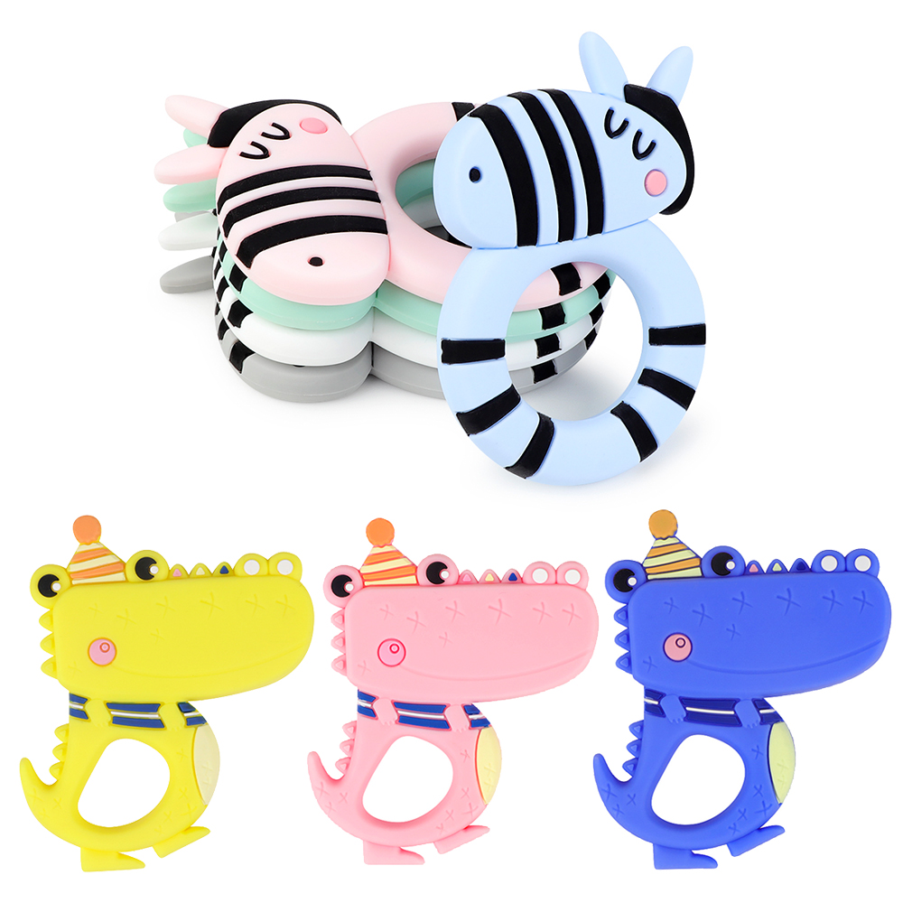 1PC Baby Silicone Teething Teethers BPA Free Nursing Toy Teether Beads Food Grade Silicone Teether Pacifier Chain