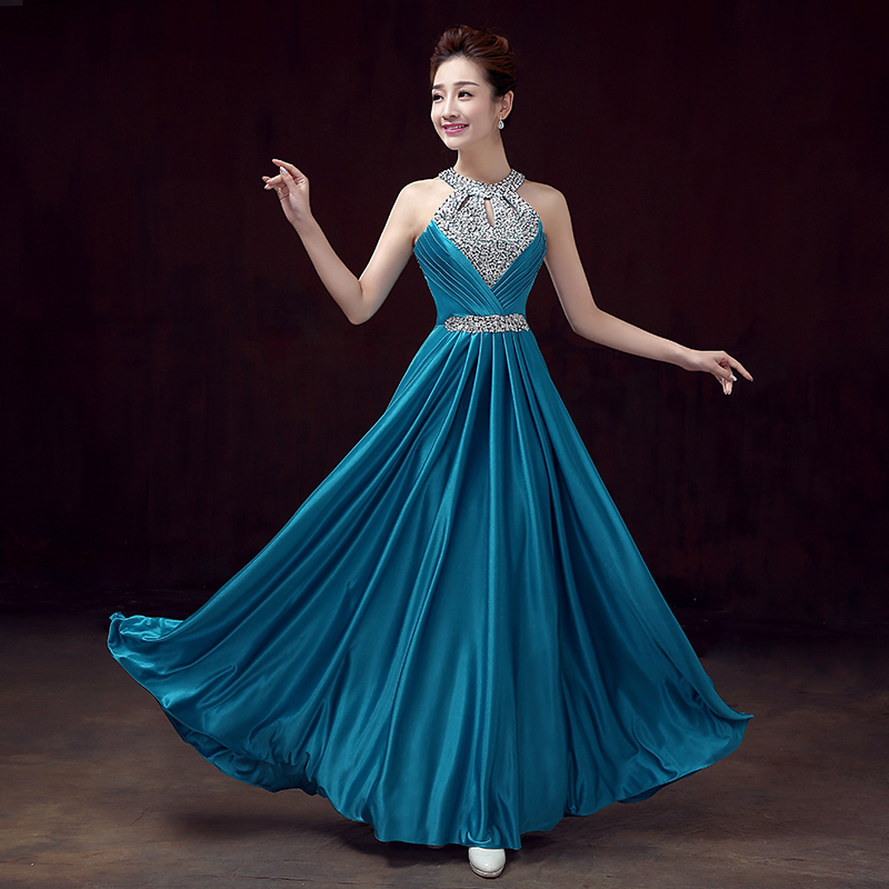 Evening dress the bride 2017 autumn and winter red long design bridal  elegant banquet the performance formal dress woman-in Evening Dresses from  Weddings ... e78f7e44c67b