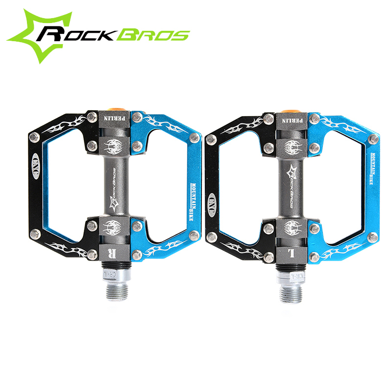 ROCKBROS Ultralight Aluminum Bmx Bicycle Pedals MTB Road Mountain Bike Cycling Sealed Bearing Pedal with Hollow Bicycle Parts bellfield bellfield be008emhvn94