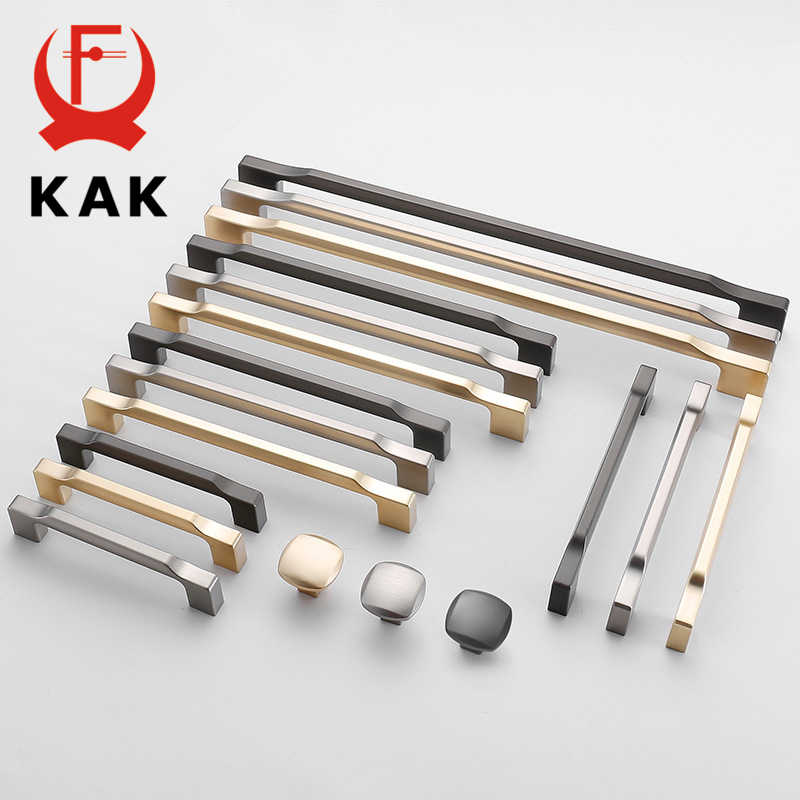 KAK Zinc Alloy Pearl Gray Gold Cabinet Handles Solid Drawer Knobs Kitchen Cupboard Door Pulls Furniture Handle Cabinet Hardware