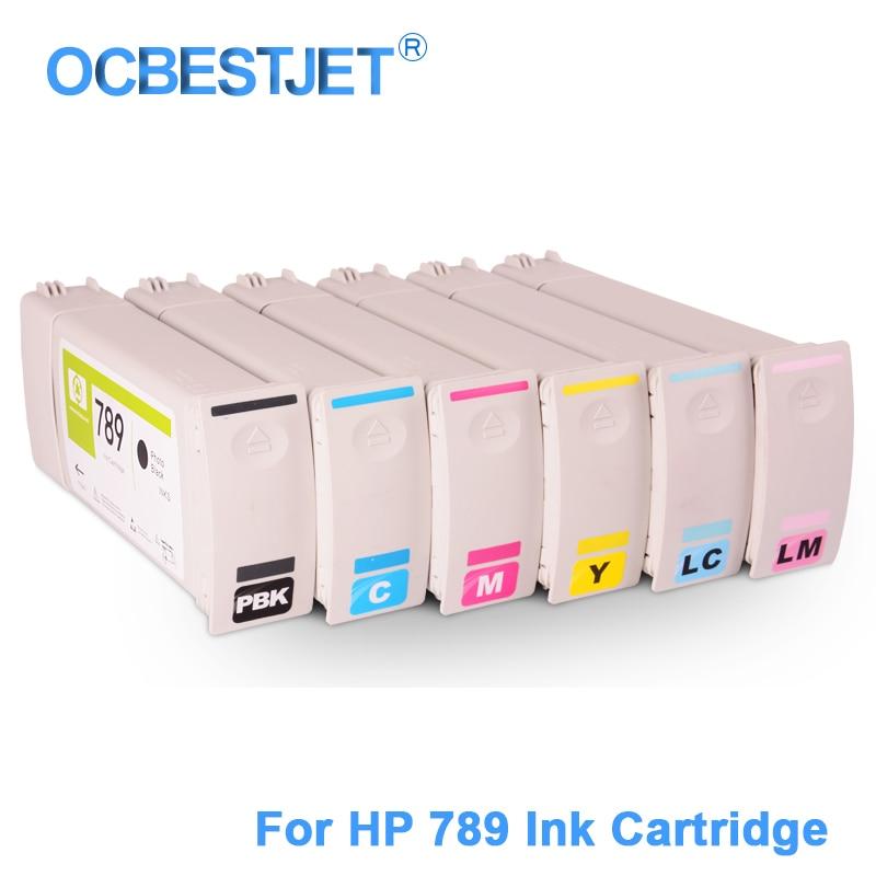 6 חלקים / סט עבור HP 789 החלפת מחסנית דיו - אלקטרוניקה במשרד