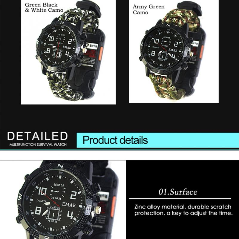 aeProduct.getSubject()  EDC Tactical multi Outside Tenting survival bracelet watch compass Rescue Rope paracord gear Instruments package HTB1fX3 FuOSBuNjy0Fdxh6DnVXaa