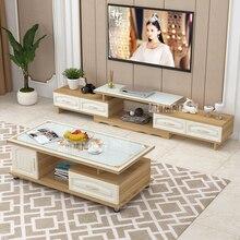 DSG188 тв стойка чайный стол комбинированный набор закаленное стекло Масштабируемая ТВ скамья Экологически чистая твердая древесина ТВ шкаф
