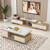 DSG188 ТВ стенд Чай Таблица Комбинации комплект закаленное Стекло масштабируемой под телевизор, лавка экологически чистого твердого деревянн