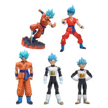 Dragonball Anime Dragon Ball Z Figure Resurrection F Super Saiyan God Vegeta Blue Hair Goku PVC Action Figures DBZ Toy(China)