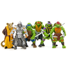 Free Shipping 6pcs/set 5cm PVC Teenage Mutant Ninja Turtles figures TMNT Action Figure Toys Classic Collection for the kids Gift