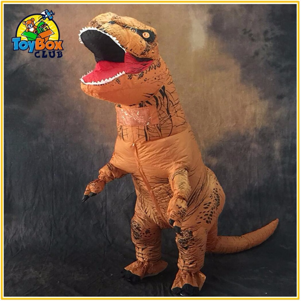 T-REX Inflatable Toys Costume Carnival Christmas Costumes Fan Operated Dinosaur Party Animal Halloween Cosplay Jumpsuit cgcos free shipping cosplay costume hetalia axis powers scotland uniform new in stock halloween christmas party
