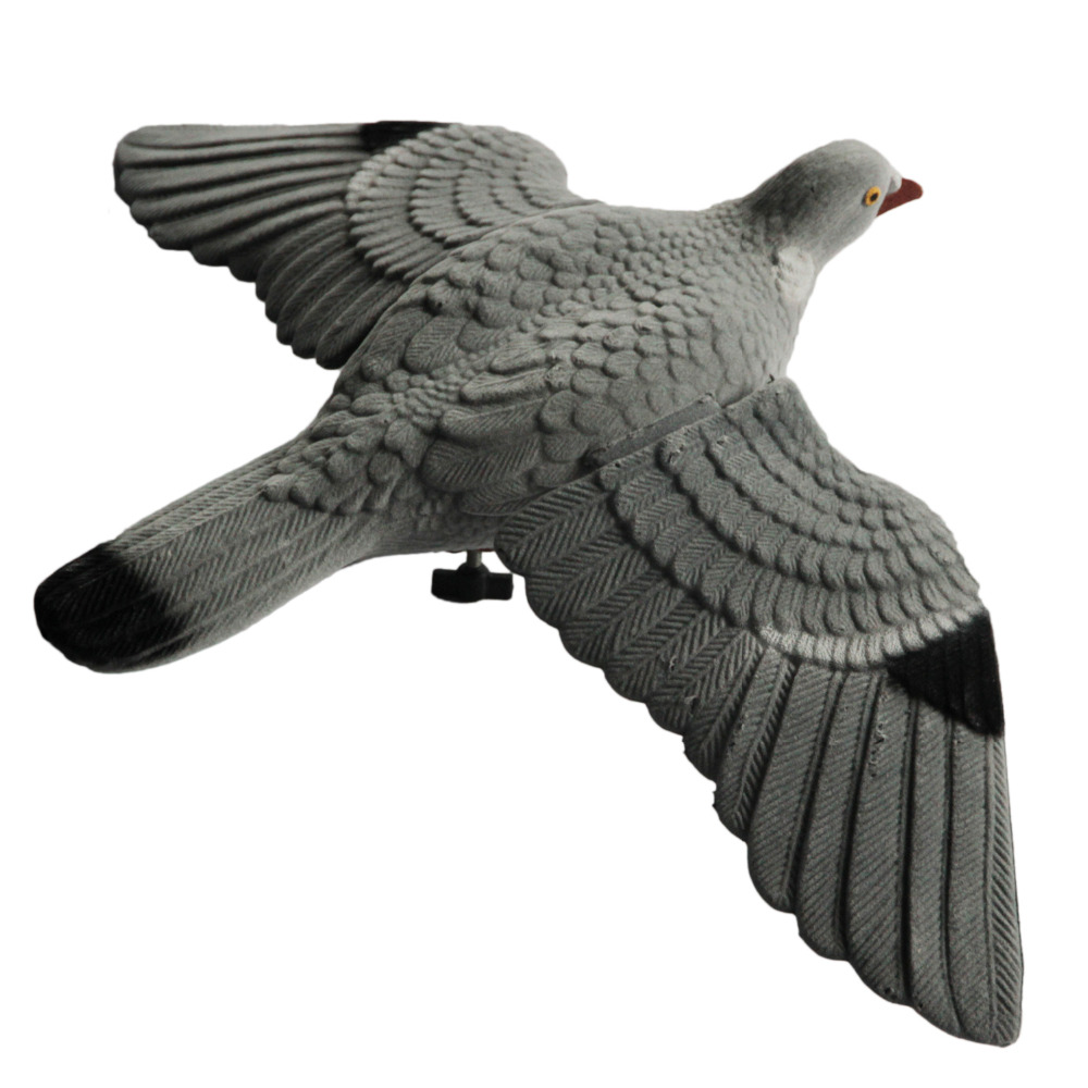 GUGULUZA 2 x Flocked Flying Pigeon Full Body with Bucket for Rotary and Bouncer