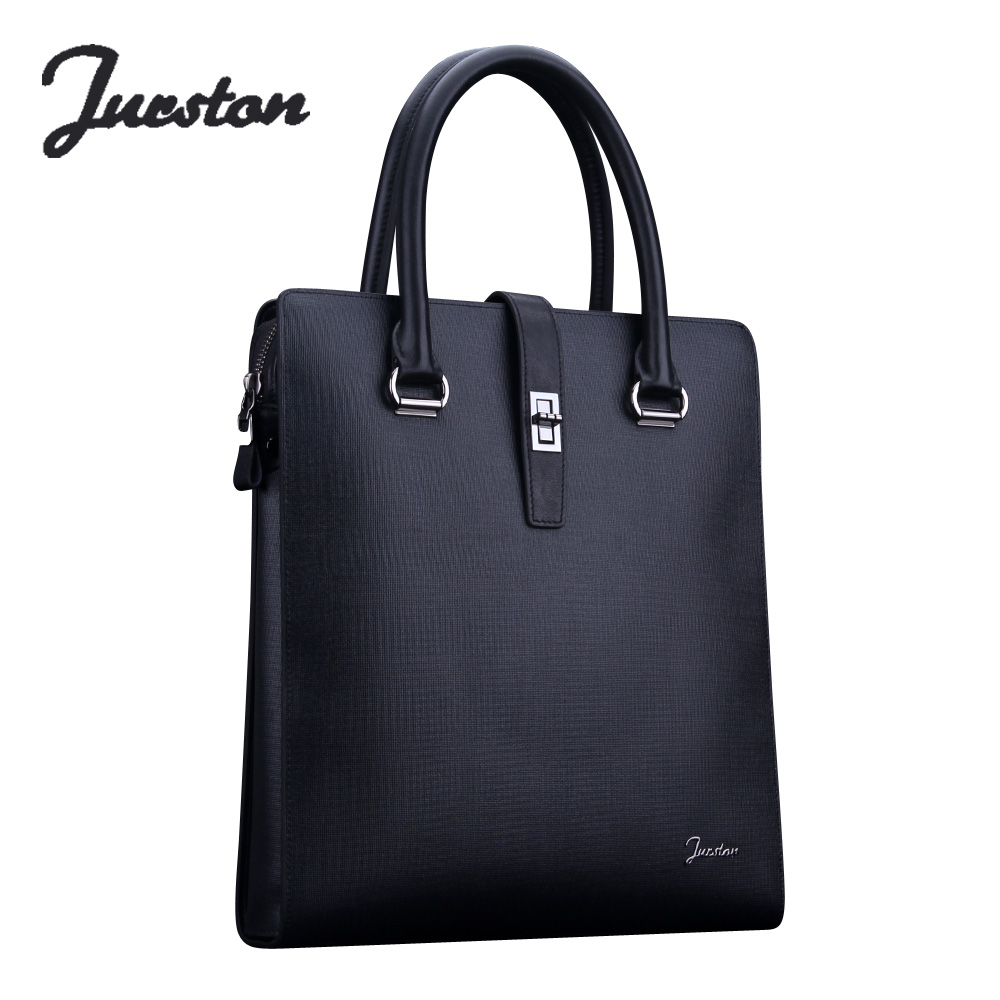 Wire cowhide man bag male genuine leather fashion business casual handbag tote bag briefcase