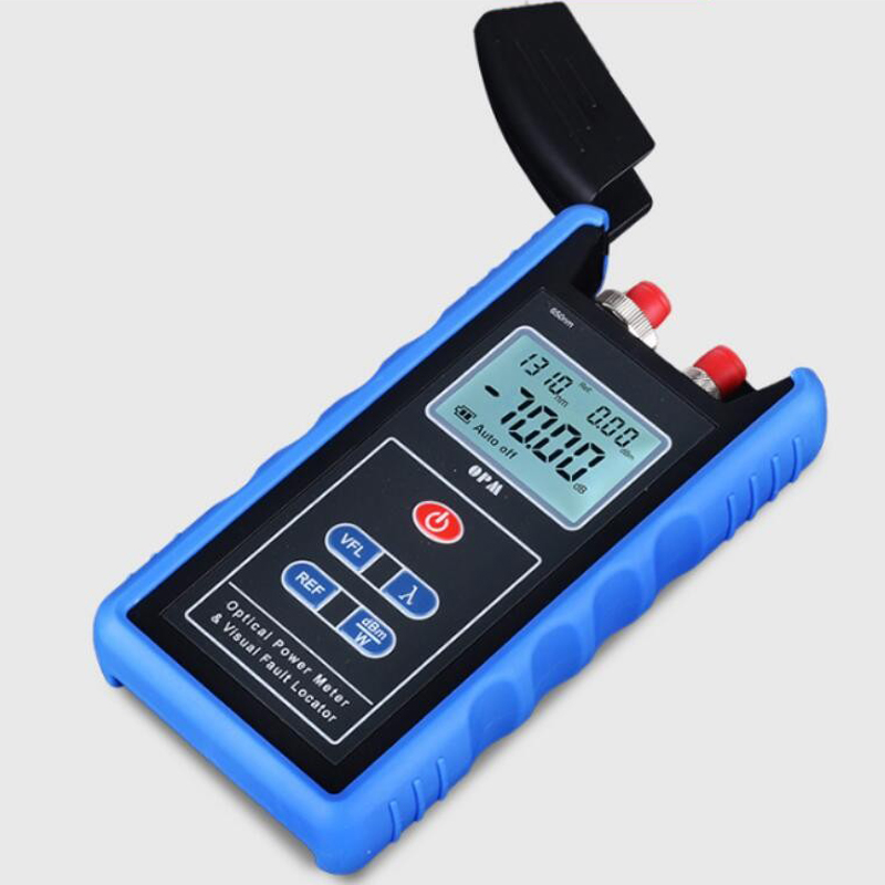 Handheld TL-560 Optical Light Source 800/1700nm OPM FTTH Optic Laser Power Meter And 1-5MW Fiber Optic Visual Fault Locator