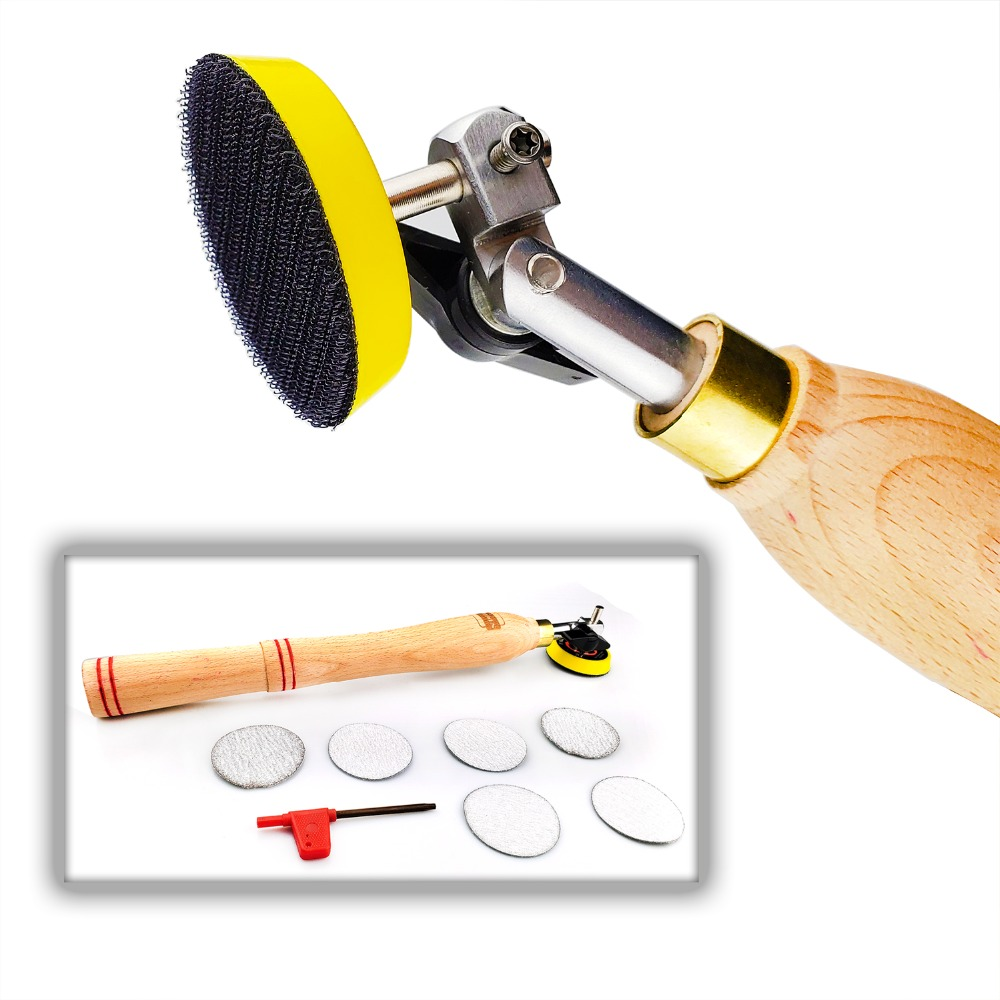 Woodworking Bowl Hand Sander Tool with Sanding Disc Pad for Wood Turner on Bowls Platters and Concave Surface Turning PolishingWoodworking Bowl Hand Sander Tool with Sanding Disc Pad for Wood Turner on Bowls Platters and Concave Surface Turning Polishing