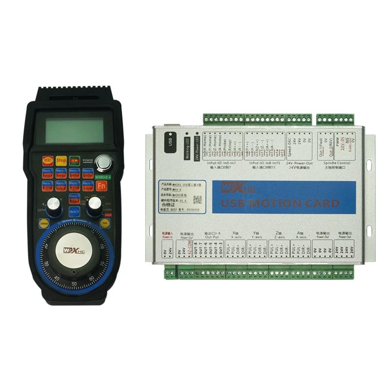 Aggressiv 6 Achse Mach3 Usb Motion Control Karte 4 Achsen Cnc Standard Board Mk4 Mk6 Drahtlose Hand Rad