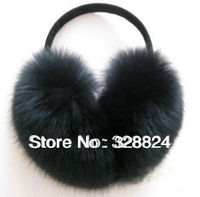 Real Fox Fur Earmuffs Wrap Around Ear Warmers