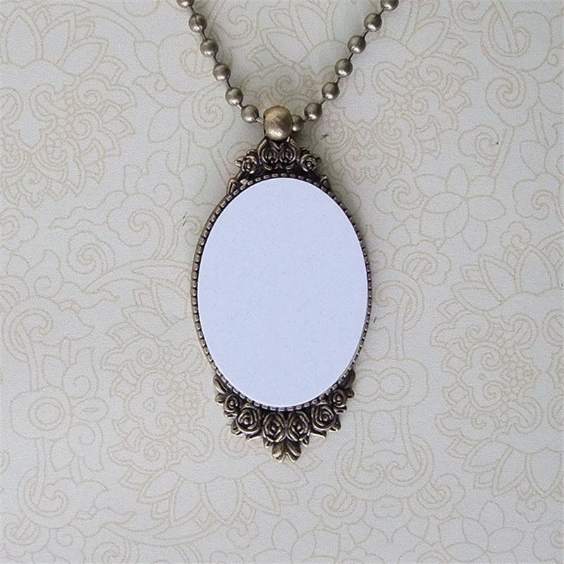 Custom necklaces pendants jewelry for sublimation blank consumables custom necklaces pendants jewelry for sublimation blank consumables wholesale heat transfer mix style in pendants from jewelry accessories on aloadofball