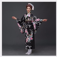 Fashion National Trends Women Sexy Kimono Yukata With Obi Novelty Evening Dress Japanese Cosplay Costume Floral