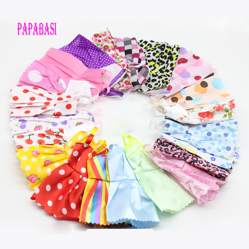 10PCS/set Mixed Style Handmade Doll Dress for Barbie Fashion Summer Party Priness Dress for Barbie Dolls Clothing