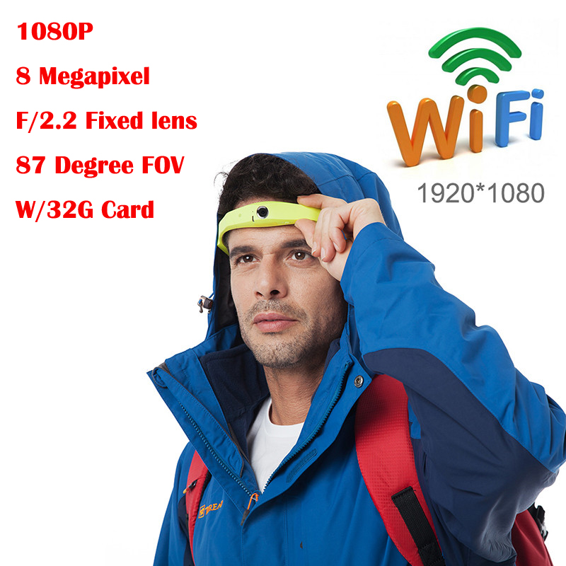 Action camera deportiva Foream X1 Wearable Helmet Video Camcorder Mini Camera 1080P 8MP Built-in Microphone Waterproof Wifi Auto