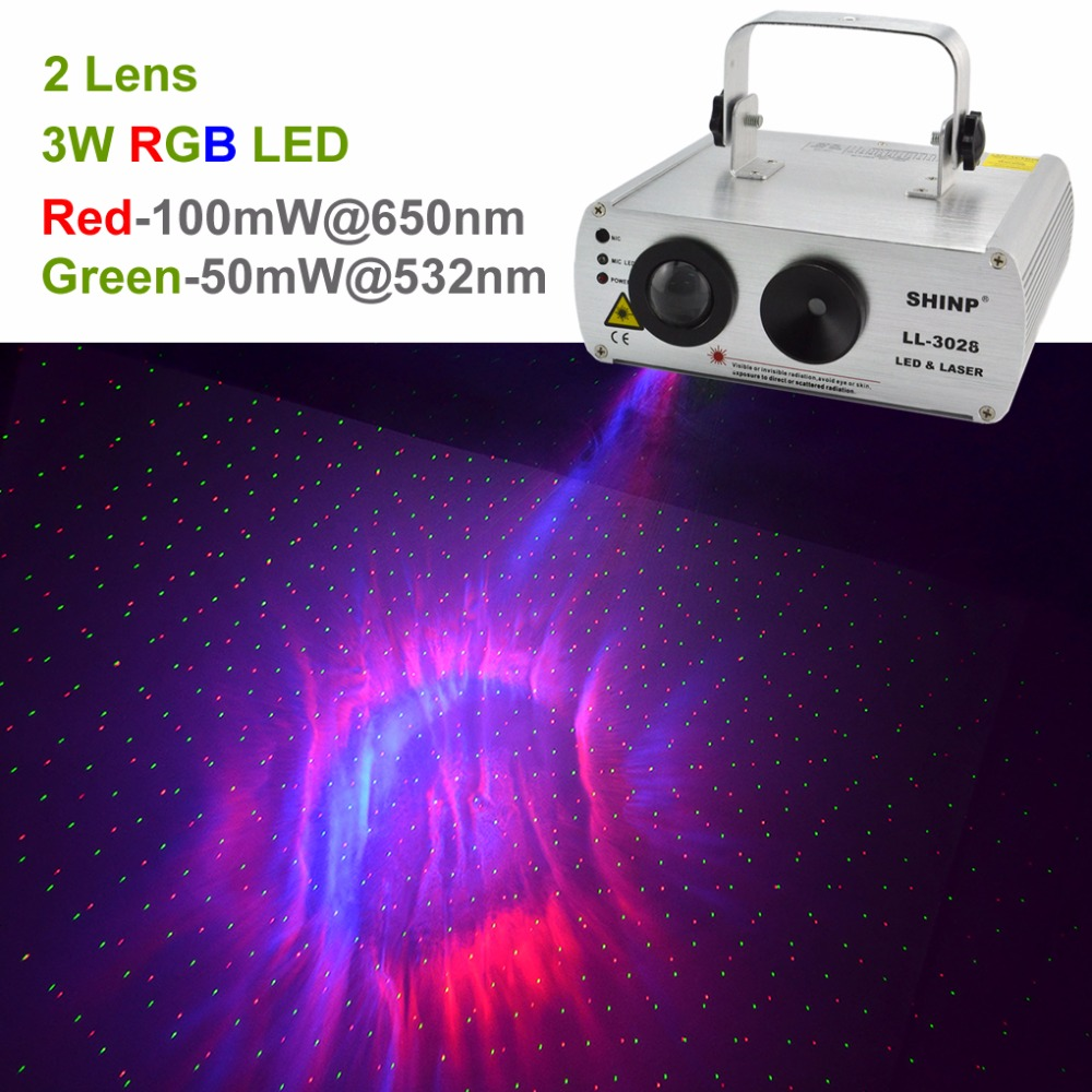 SHINP DMX RG Dots Effect Laser Lights with Aurora Mixed RGB LED Background Lighting Party DJ KTV Bar Home Stage Lighting 3028-LL rg mini 3 lens 24 patterns led laser projector stage lighting effect 3w blue for dj disco party club laser