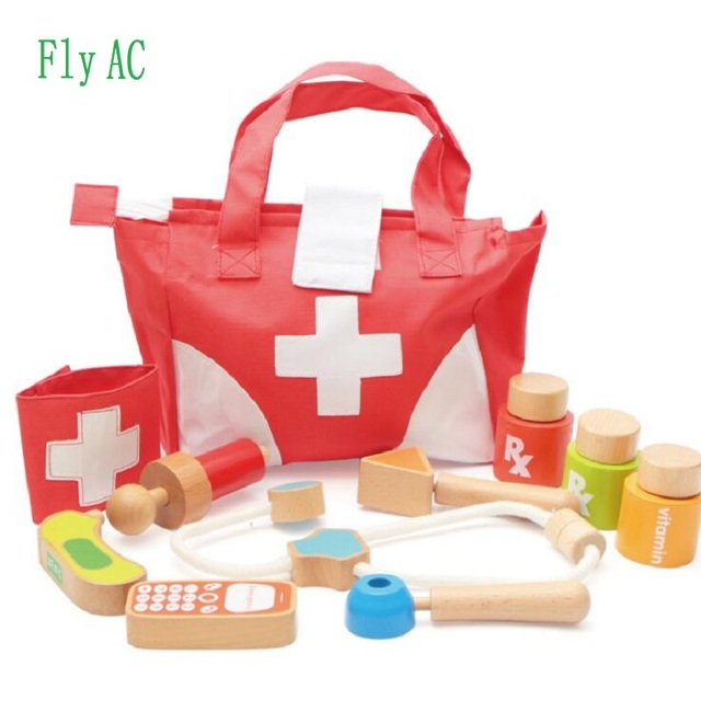Fly AC Classic Kids Doctor Kit With Stethoscope Series Bag Handbags Toys For Children Birthday