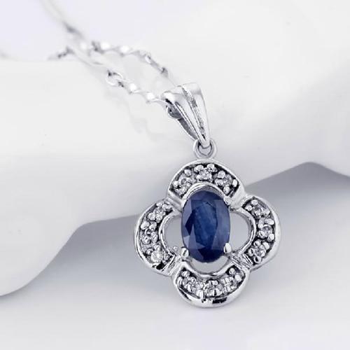 Новинка года Кольер QI xuan_dark синий каменный цветок кулон necklace_real necklace_quality guaranteed_manufacturer непосредственно продаж
