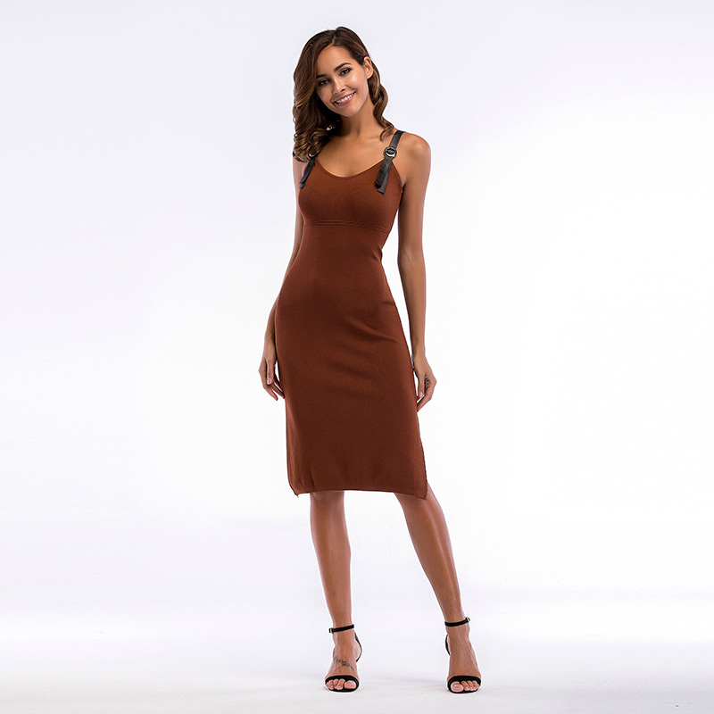 Women Sexy Split Knitted Summer Dress 2018 New Ladies Elastic Bodycon V Neck Elegant Party Dress Female Vestidos Streetwear цена