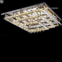 Потолочное освещение современные простые площади гостиной лампа три слоя ПРИВЕЛО кристалл лампы Роскошь лампы L950xW950xH330MM Бесплатная Доставка