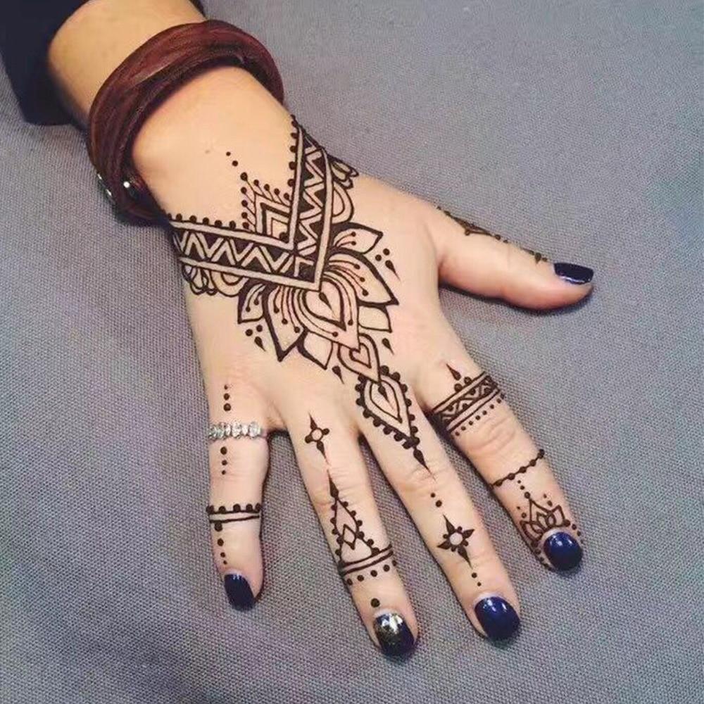 1 Pcs Hitam Putih India Henna Tattoo Pasta Warna Alami Mehndi