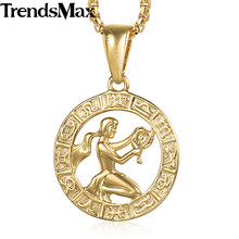 Virgo Zodiac Sign Pendant Necklaces For Women Constellation Women's Gold Pendant Fashion Jewelry 2018 Gifts Dropshipping KGP362(Hong Kong,China)