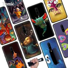 Cute Cartoon Monsters Black Soft Case for Oneplus 7 Pro 7 6T 6 Silicone TPU Phone Cases Cover Coque Shell