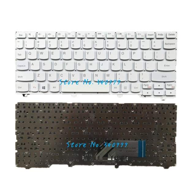 US $14 5 |New laptop keyboard For Lenovo Ideapad 100s 100S 11IBY white  without frame US keyboard-in Replacement Keyboards from Computer & Office  on